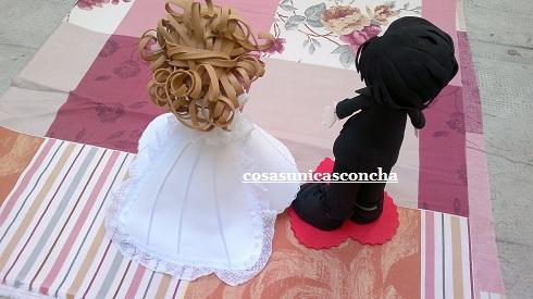 vestido fofucha novia con cola | cosas Únicas concha