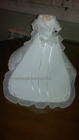 vestido de novia | cosas Únicas concha