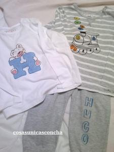 Re. o37. Camisetas y pantalón de bebe