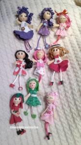 Broches de muñecas de goma Eva