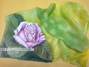 Re. 004 Pañuelo pintado en seda, terminado