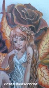 Re. 005 Detalle del pañuelo, pintado sobre seda