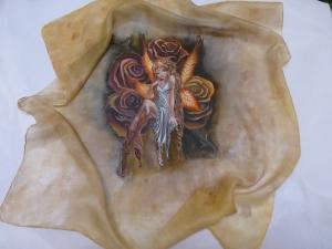 Re. 005 Pintura sobre seda Pañuelo terminado