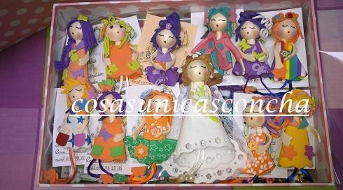 Re. 027 Broches de muñequitas Regalo de boda