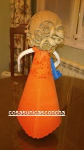 Re. 161 Detalle del vestido y peinado visto de espalda