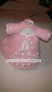 Re. 174 Vestido de fofucha bebe niña