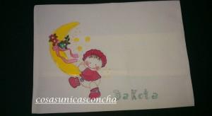 Re. 009 Cojin pintado a mano para bebes