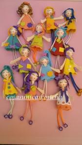 Conjunto de broches de muñecas Agata