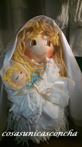 Detalle de la Virgen de cerca