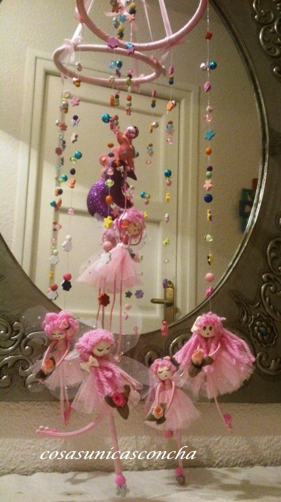 Re. 002 Movil de hadas rosa