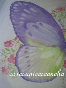 Ala de la mariposa mediana