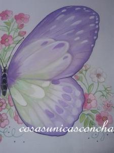 Detalle de la mariposa grande