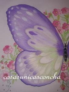 Detalle dela mariposa grande