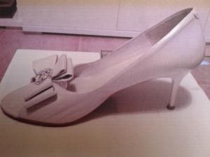 Zapato original de novia
