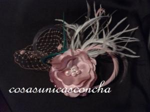 R. 062 Tocado Rosa palo