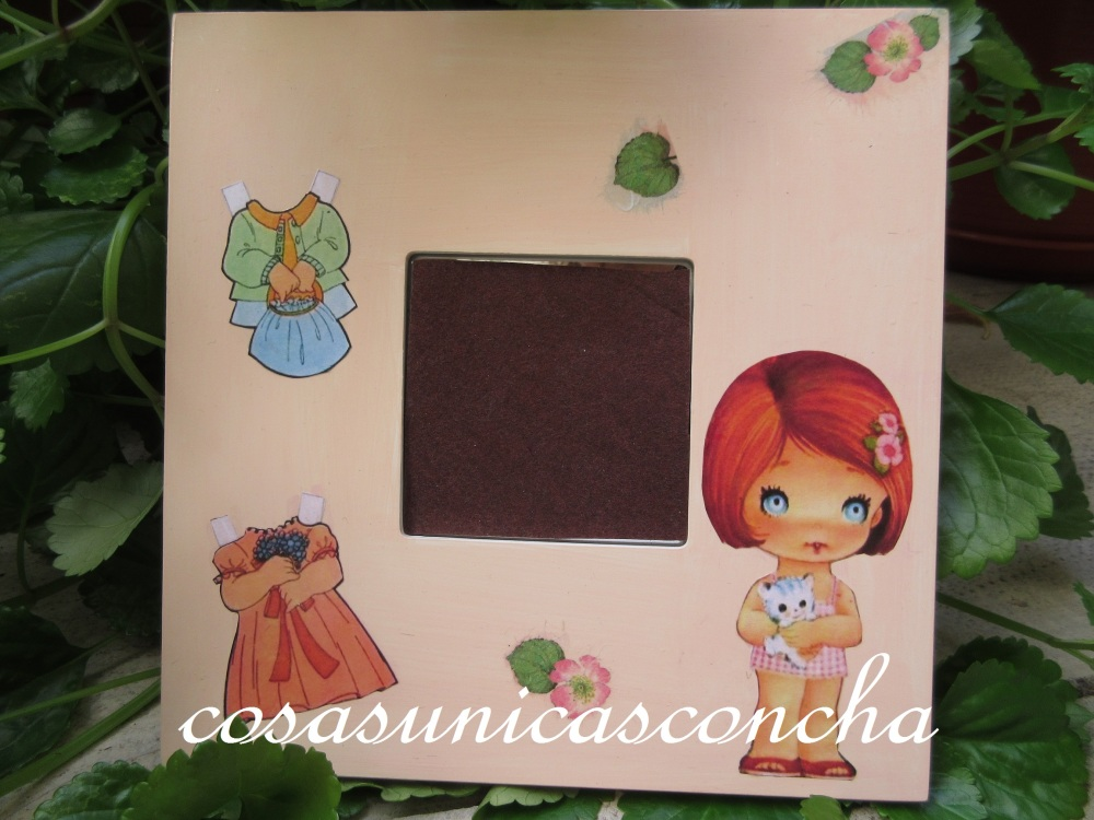 Cuadros de muñecas recortábles habitación niñas (1/2)