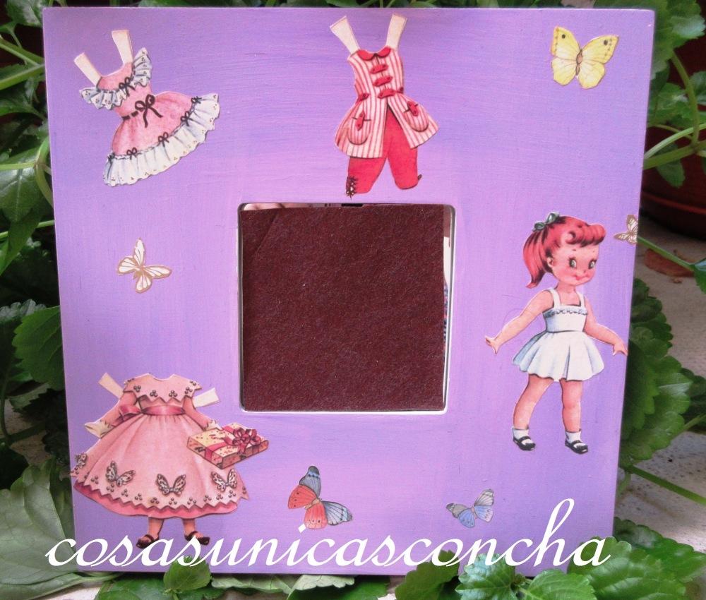 Cuadros de muñecas recortábles habitación niñas (2/2)