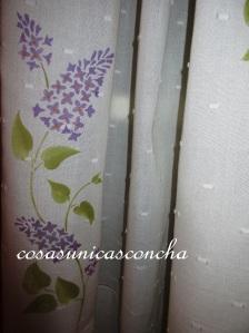 Detalle de la cortina visto de cerca