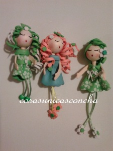 Muñecas de broche de Goma  eva