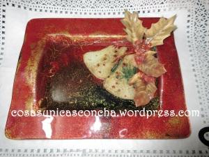 Bandeja decorada con servilleta