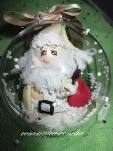 Bola con Papa Noel