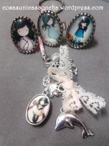 R. 002 Llavero y anillos con muñeca Grouss