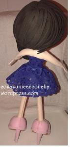 R. 217 Fofucha personalizada, detalles de la espalda.
