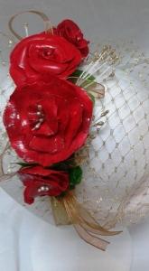 R.069 Diadema de flores hechas con pasta leihng