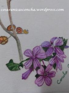 R. 064 Flor de malva. Motivo de la bolsa
