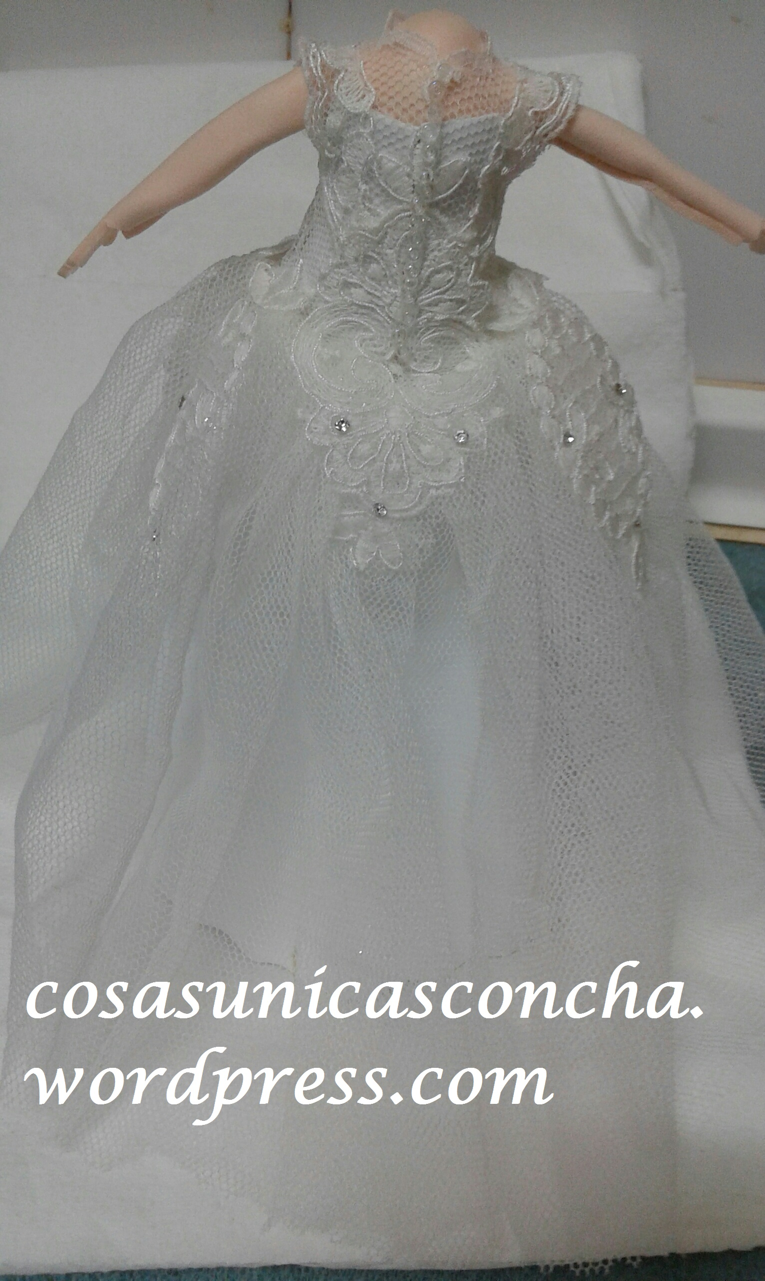 Vestido De R 235 Novia Del Espalda Fofucha HntcWqAFw