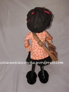R. 228 Fofucha personalizada Marimen. Detalle del pelo