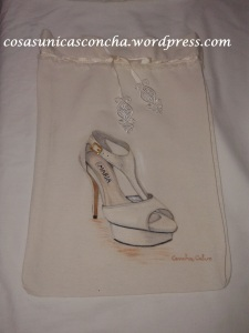 R. 065 Bolsa para guardar zapatos de novia y personalizada