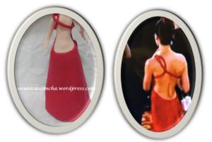 R. 240 vestido original y el de la fofucha