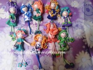 Broches de muñecas de goma Eva, regalo de boda