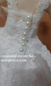 R. 246 Vestido personalizado de fofucha novia