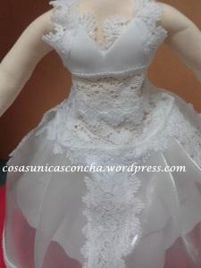 R. 246 Vestido de fofucha novia personalizado