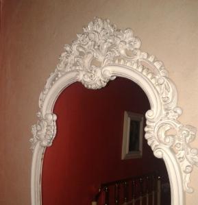 Detalle del espejo visto de cerca