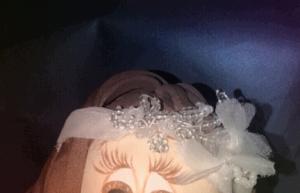 R. 253 Tocado de fofucha novia