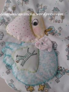 Detalle del saco de dormir de bebe