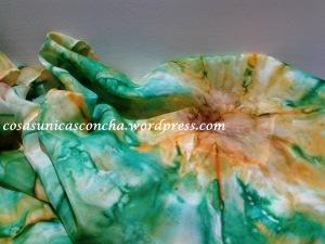 Fular de seda pintado a mano