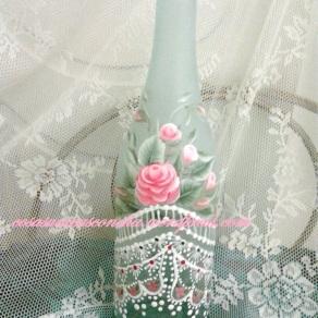 botella pintada multicarga y helada