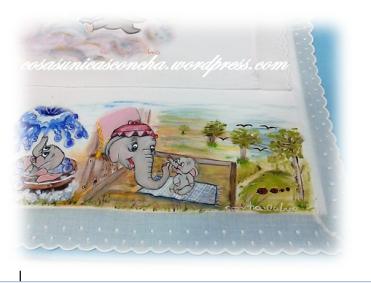 Detalles dibujo sabanita Dumbo