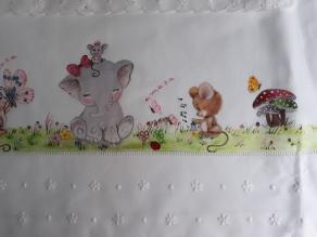 Elefanta lila y ratón