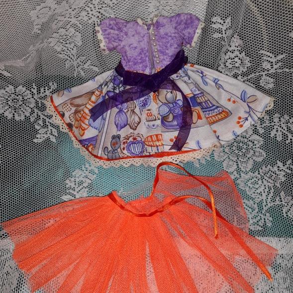 Vestido para muñeca de trapo