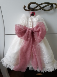 Vestido para muñeca de trapo de comunión
