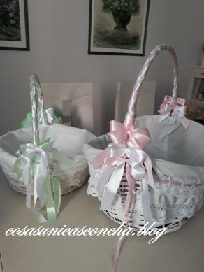 Cestas para regalos de comunión o boda