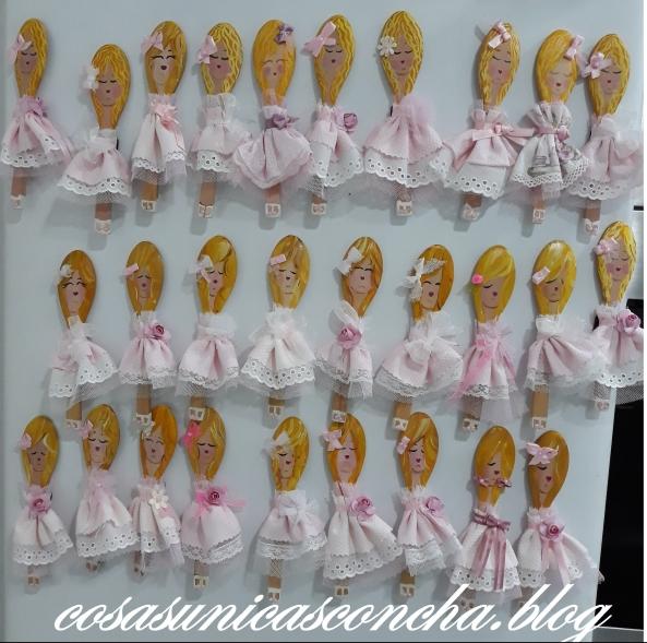 Cucharas muñecas imanes