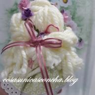 Corona de flores y lazo