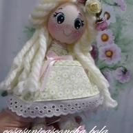 Muñequita de trapo pequeña , regalo comunión
